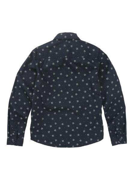 kinderoverhemd donkerblauw donkerblauw - 1000011049 - HEMA