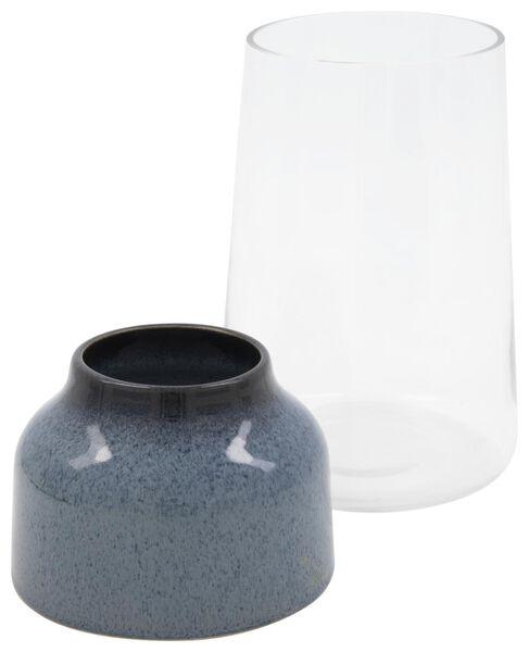 vaas Ø13x23cm - glas/aardewerk - 13322014 - HEMA