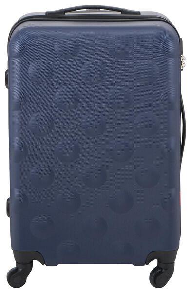 koffer - 67x44x25 - structuur - donkerblauw - 18630101 - HEMA