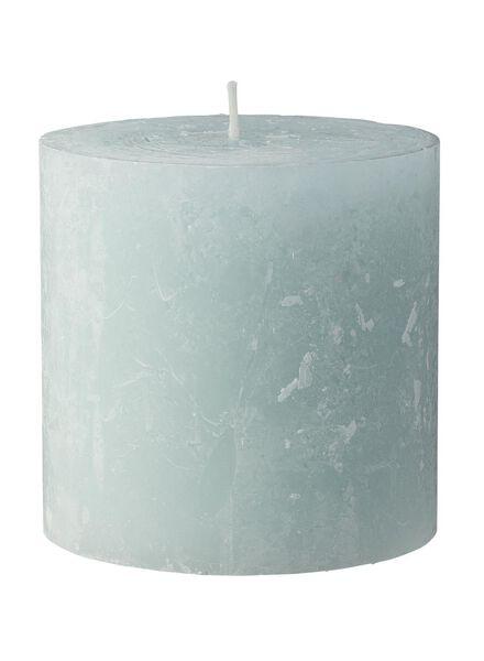 rustieke kaars - 10 x 10 cm - lichtgroen lichtgroen 10 x 10 - 13503169 - HEMA