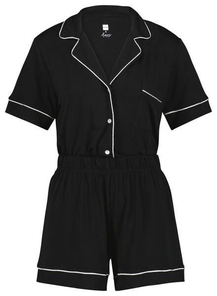 dames pyjama zwart zwart - 1000023403 - HEMA