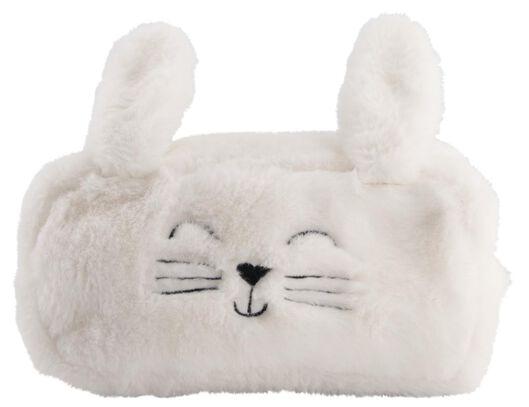 etui XL fluffy konijn wit - 14495501 - HEMA