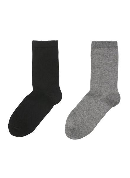 2-pak thermo damessokken zwart zwart - 1000010933 - HEMA