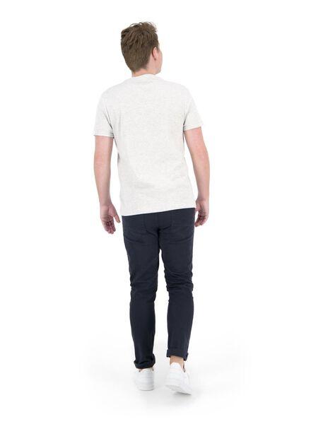 heren t-shirt ribbel wit wit - 1000014892 - HEMA