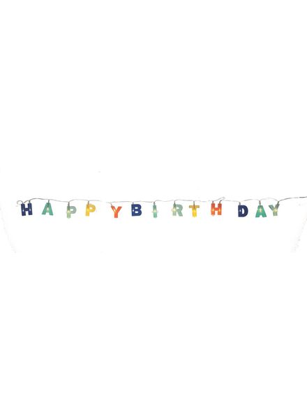 verlichtssnoer happy birthday - 14230060 - HEMA