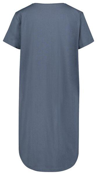 damesnachthemd everyday blauw blauw - 1000022701 - HEMA