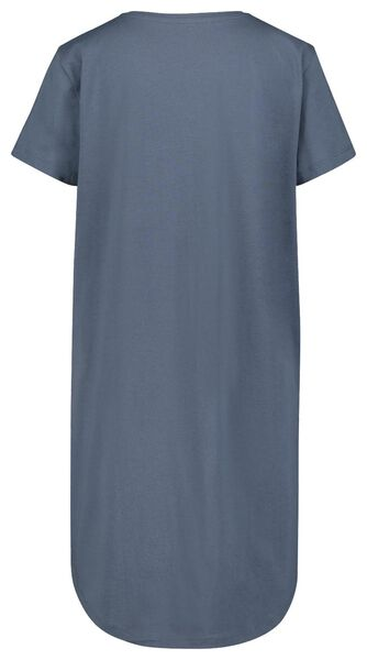 damesnachthemd everyday blauw M - 23400442 - HEMA