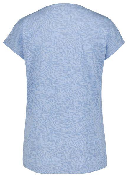 dames t-shirt lichtblauw lichtblauw - 1000020069 - HEMA