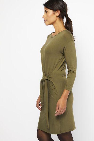 dames jurk olijf olijf - 1000021659 - HEMA