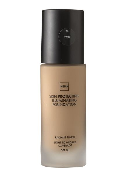 skin protecting illuminating foundation Beige 03 - 11292003 - HEMA
