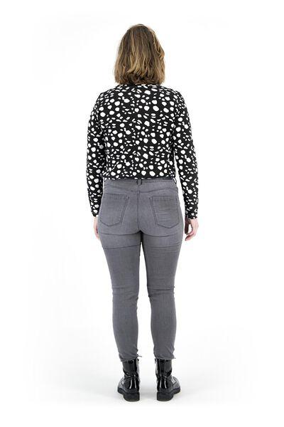 dames jeans - shaping skinny fit middengrijs 44 - 36337538 - HEMA