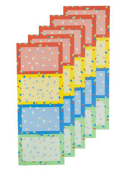 20-pak labels - 14540551 - HEMA