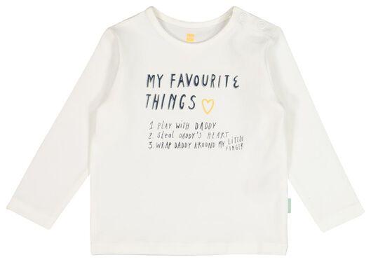 newborn t-shirt 'daddy' - biologisch katoen wit 62 - 33431033 - HEMA