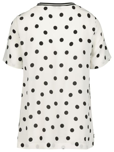 dames top wit/zwart wit/zwart - 1000019421 - HEMA