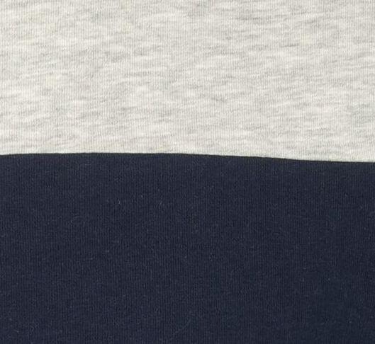 herensweater kleurblokken donkerblauw - 1000020880 - HEMA