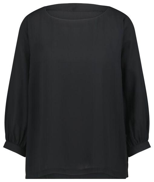 dames top zwart XL - 36238354 - HEMA