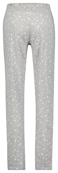 dames pyjama katoen sterren grijsmelange XL - 23420984 - HEMA