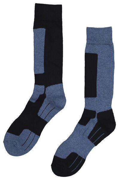 2-pak wandelsokken blauw 39/42 - 4120766 - HEMA