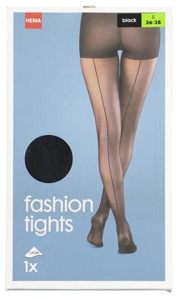 fashionpanty met zwarte naad zwart - 1000019181 - HEMA