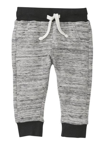baby sweatbroek zwart/wit zwart/wit - 1000004270 - HEMA