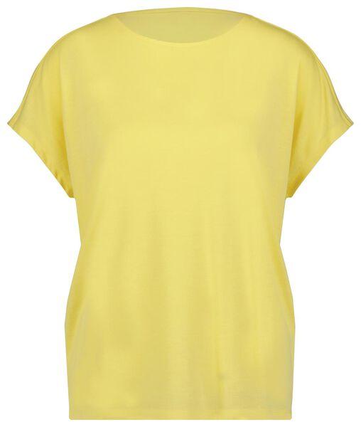 dames t-shirt geel geel - 1000023977 - HEMA