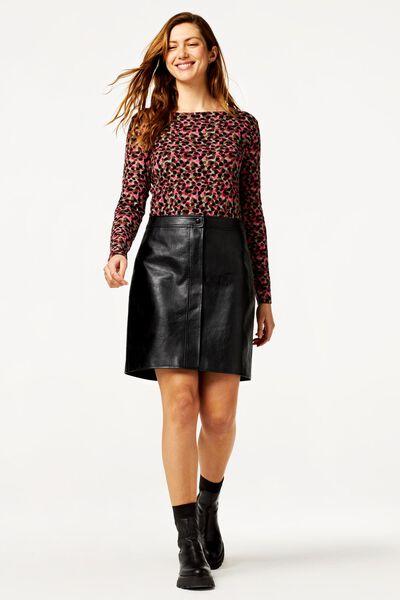 dames t-shirt boothals multi S - 36238346 - HEMA