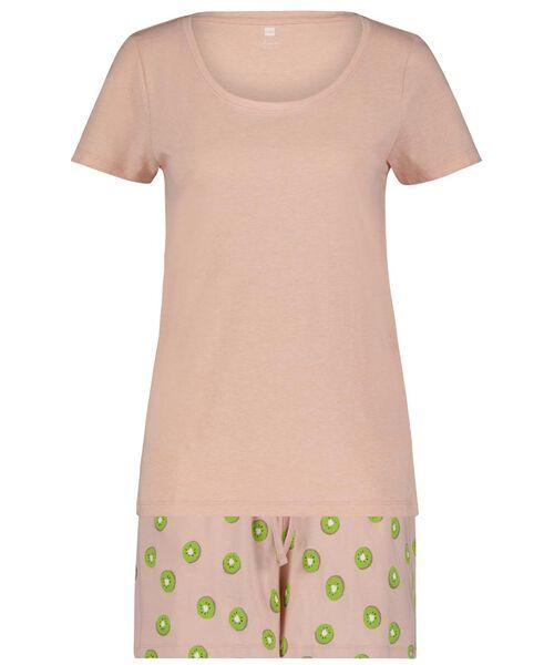 dames shortama kiwi roze roze - 1000024190 - HEMA
