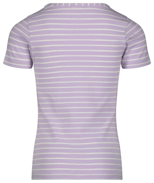 kinder t-shirt stripes lila 134/140 - 30815931 - HEMA