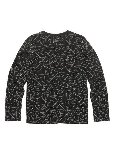 kinder t-shirt zwart zwart - 1000010714 - HEMA