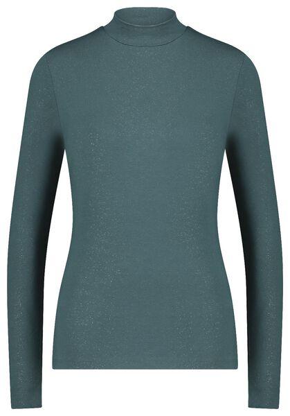 dames top met glitters groen L - 36229773 - HEMA