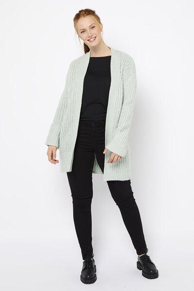 damesvest met wol lichtgroen - 1000021461 - HEMA