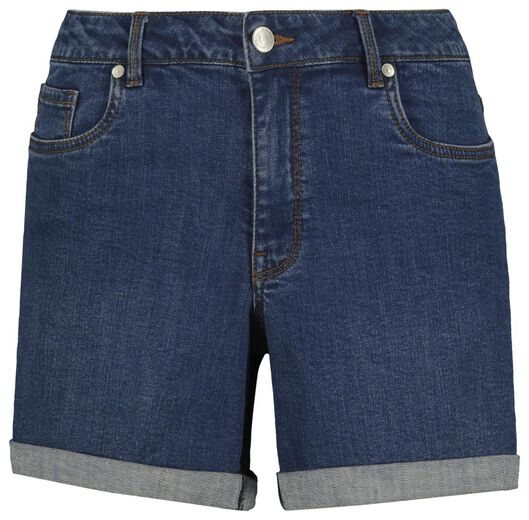 damesshort denim middenblauw 42 - 36291368 - HEMA