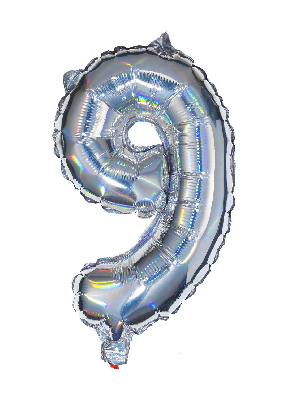 HEMA Folieballon 9 - Zilver (multicolor)