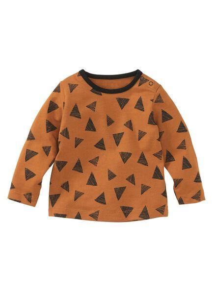 baby t-shirt bruin bruin - 1000008351 - HEMA