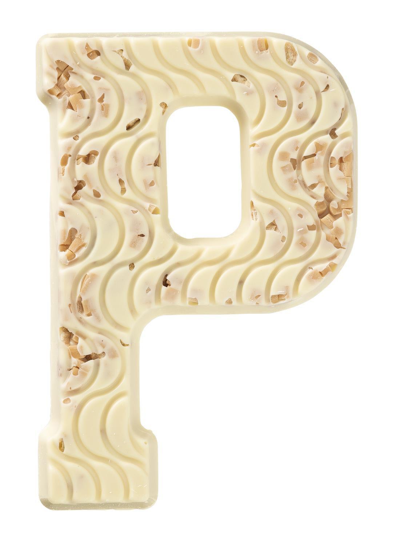 HEMA Witte Chocoladeletter P Met Stroopwafel