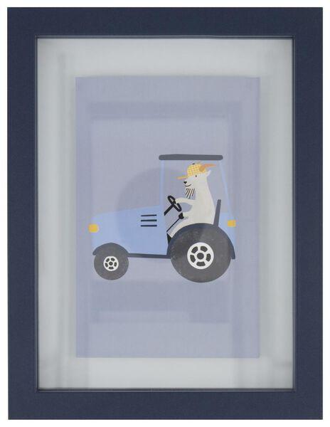 fotolijst 22x17 tractor blauw - 13211106 - HEMA