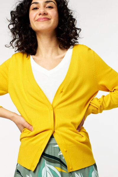 damesvest geel geel - 1000023925 - HEMA