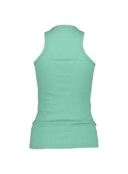 dames pyjamatop katoen groen groen - 1000014172 - HEMA