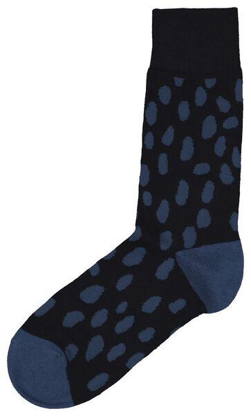 herensokken luipaard donkerblauw donkerblauw - 1000022591 - HEMA