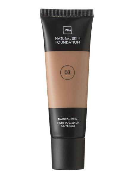 natural skin foundation Beige 03 - 11291003 - HEMA