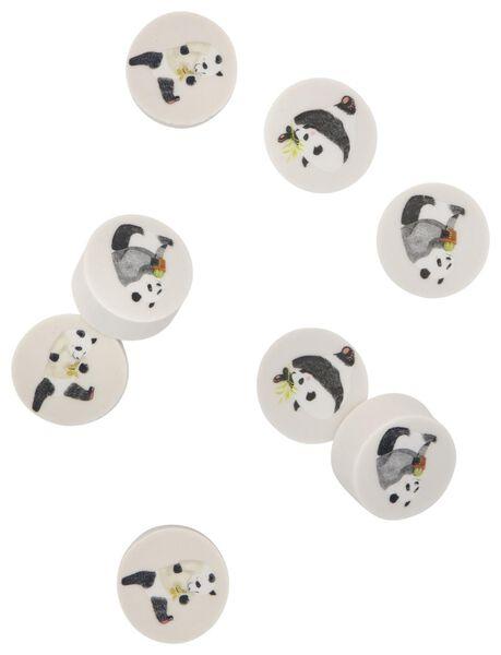 gummendoosje met 8 panda gummen Ø2.5 cm - 14410044 - HEMA
