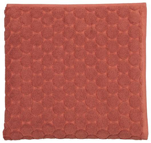 handdoeken - zware kwaliteit - gestipt terra terra - 1000021778 - HEMA