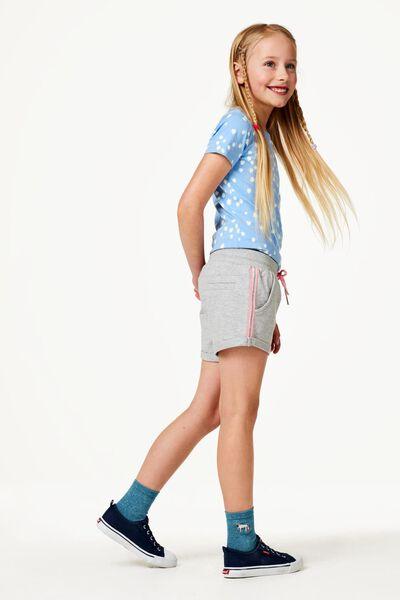 kinder t-shirt bloemen blauw blauw - 1000023142 - HEMA