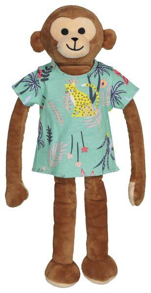 kindershortama met poppenpyjama bamboe jungle aqua 98/104 - 23060852 - HEMA