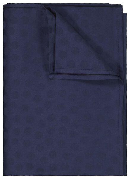 tafelkleed 140x250 damast katoen - blauw stip - 5300087 - HEMA