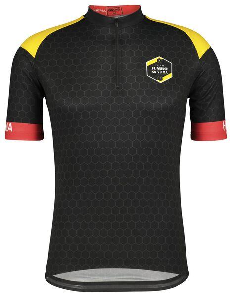 fietsshirt TJV replica zwart zwart - 1000021132 - HEMA