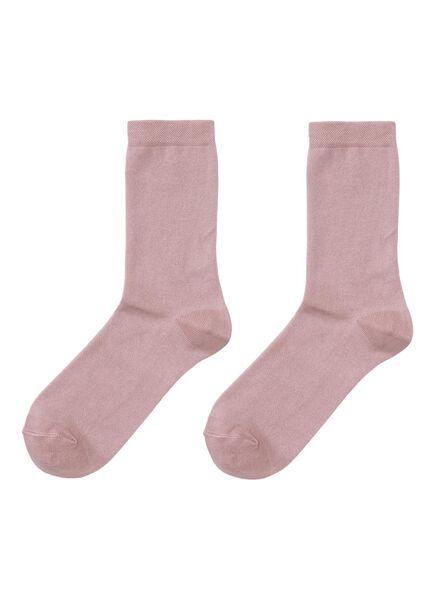 2-pak damessokken geurremmend roze roze - 1000001767 - HEMA