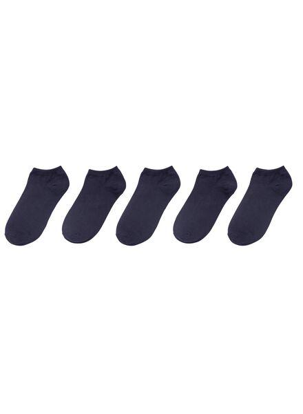 5-pak herensokken donkerblauw donkerblauw - 1000001525 - HEMA