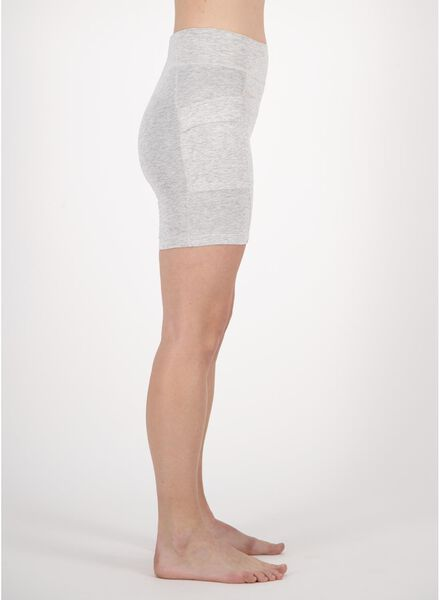 dames fietsshort real lasting cotton grijsmelange grijsmelange - 1000013474 - HEMA