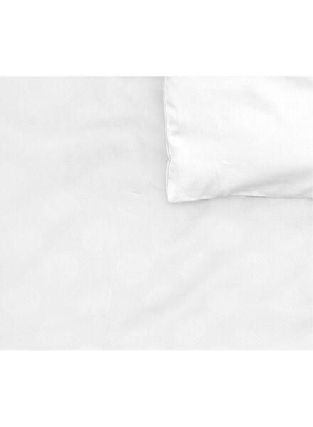 dekbedovertrek - hotel katoen satijn - 240 x 220 cm - wit stip wit 240 x 220 - 5710046 - HEMA